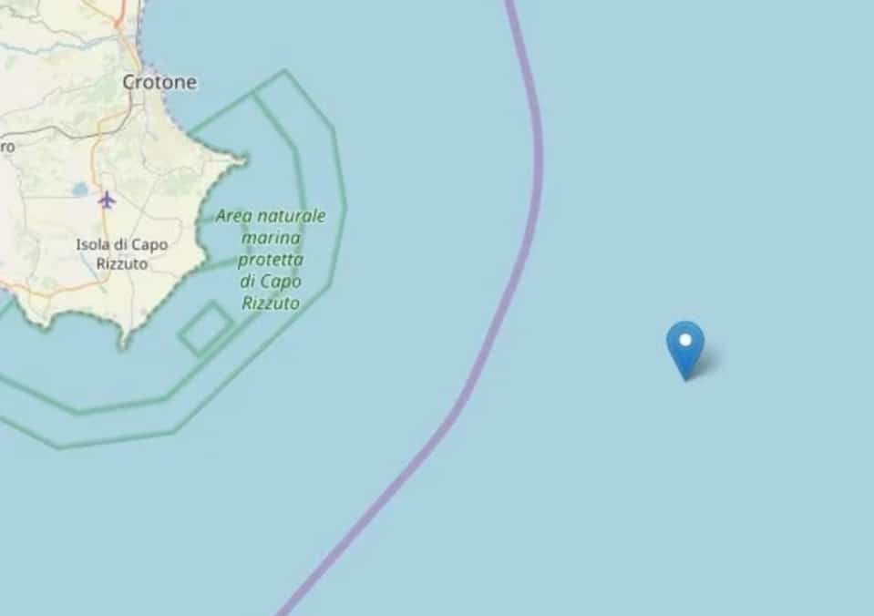 Terremoto: scossa nella costa ionica calabrese all'alba.