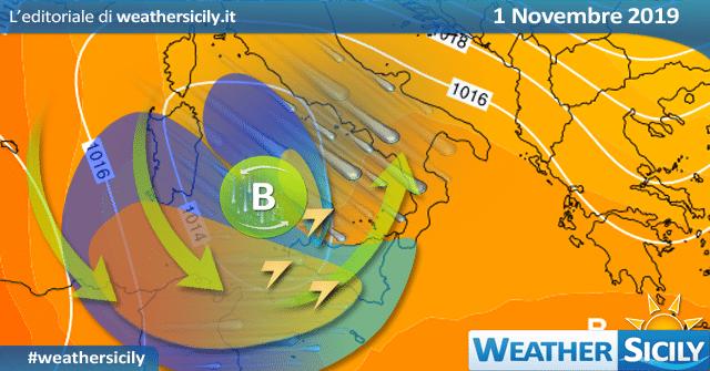Meteo Sicilia: imminente peggioramento in arrivo da ovest!