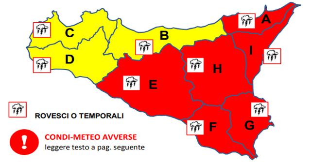 Meteo Sicilia: simulazione Squall-Line prossime 24 ore.