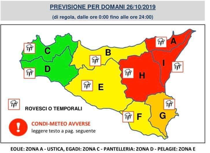 Sicilia, prolungata l'allerta rossa sul comparto orientale.