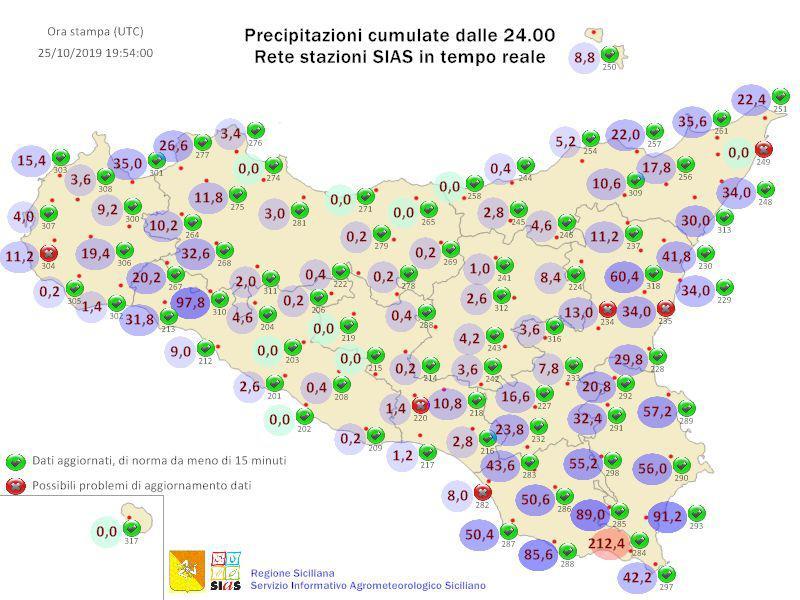 Meteo Sicilia: accumuli ingenti tra Ragusano e Siracusano