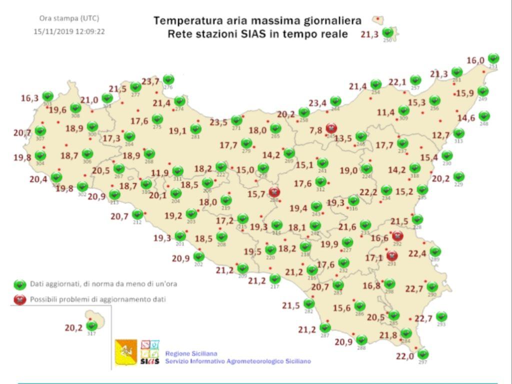 Meteo Sicilia: Temperature in aumento.