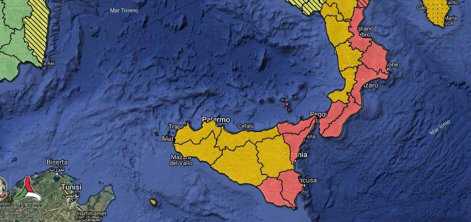 Martedì allerta meteo rossa su Sicilia orientale.