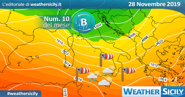 Sicilia: giovedì torna qualche pioggia. Contesto ventoso.