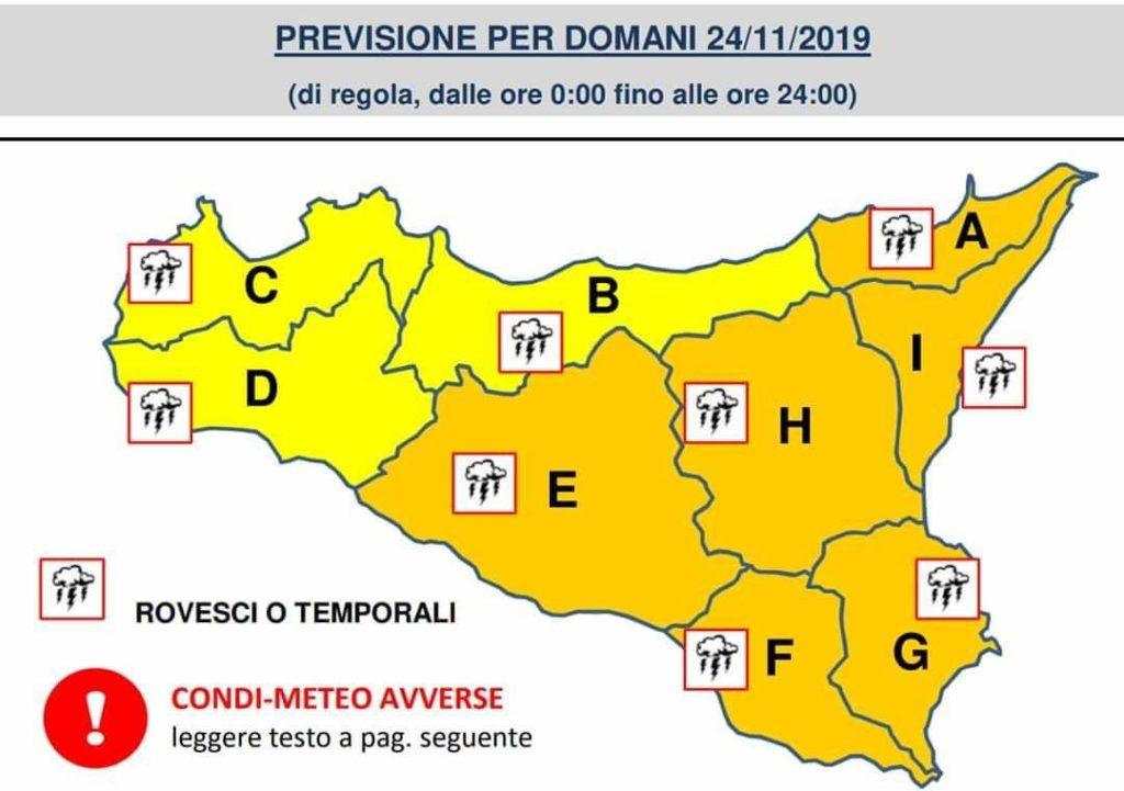 Sicilia: lunedì instabilità diffusa e localmente persistente.