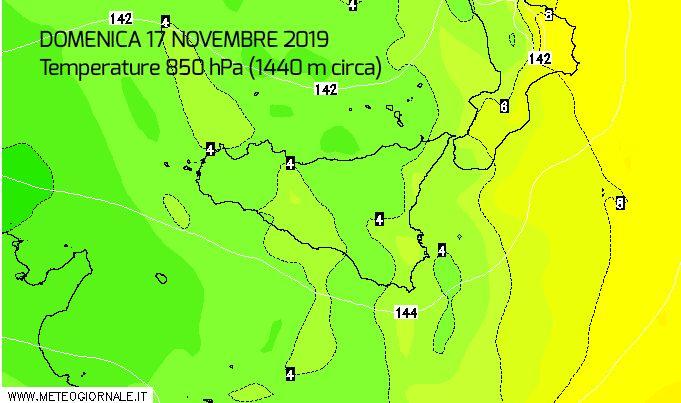 Torna l'aria polare marittima: crollo termico giunto in Sicilia.