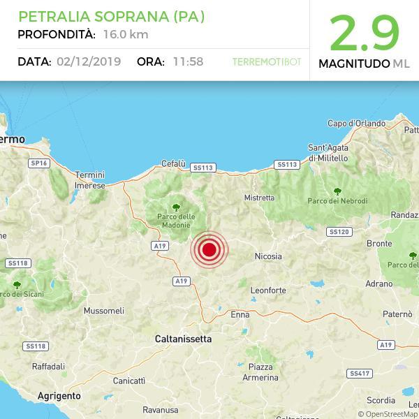 Sicilia, sciame sismico nelle Madonie: 10 scosse di terremoto in meno di un'ora.