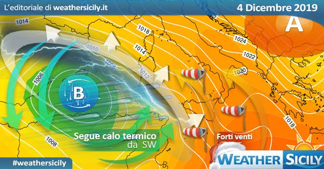 Sicilia: è iniziato l'inverno meteo ma con punte di +20°C. Ecco cosa sta succedendo.
