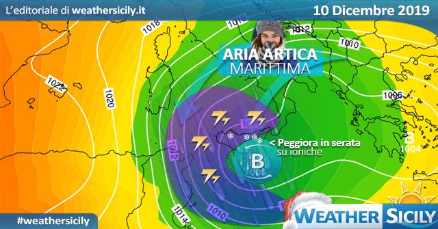Sicilia: weekend stabile. Prima irruzione artica e freddo da martedì.