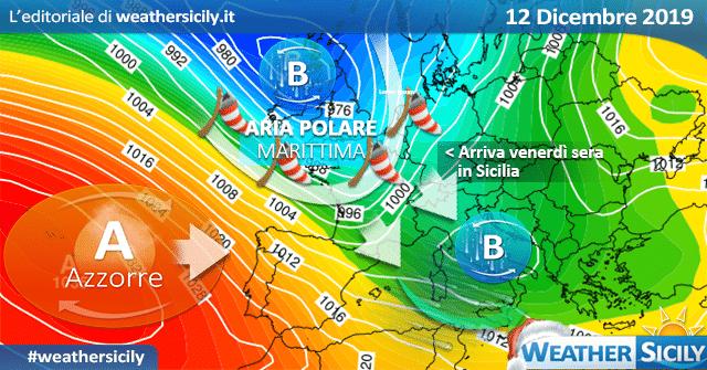 Il freddo artico non molla la Sicilia: ulteriore calo termico mercoledì.