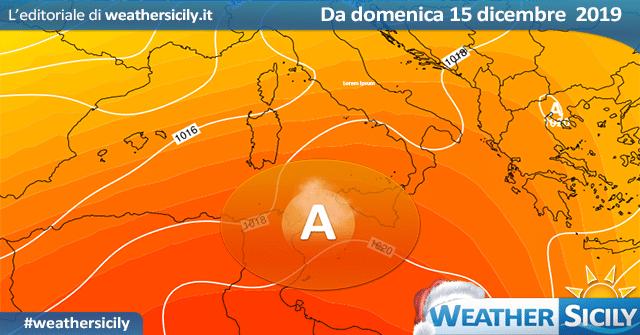 Sicilia: attesi venti di TEMPESTA tra venerdì sera e sabato notte, con onde fino a 6-7 m.