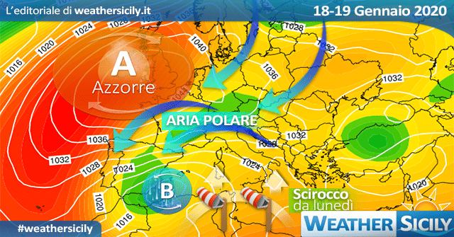 Sicilia, inverno in crisi: weekend variabile. Segue SCIROCCATA!