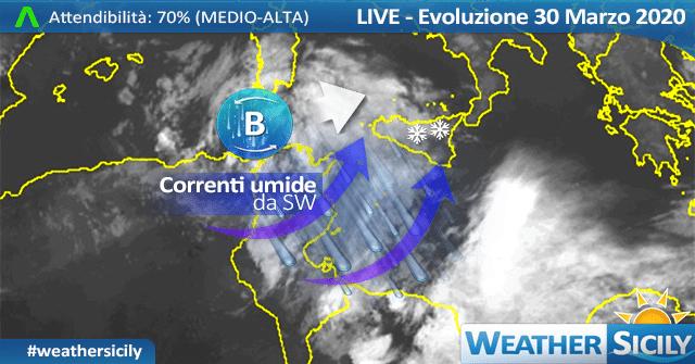 Sicilia: imminente peggioramento. Arriva altra neve in montagna!