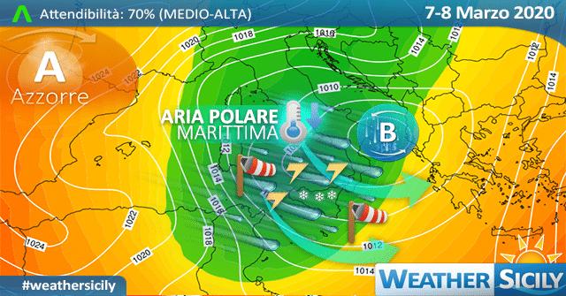 Sicilia: venerdì mite e ventoso. Segue terzo impulso polare nel weekend.
