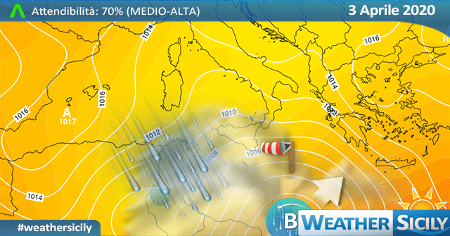 Sicilia: graduale miglioramento nel weekend.