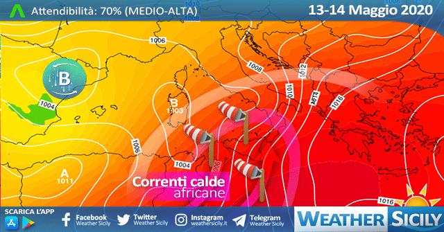 Sicilia: seconda ondata di caldo africano nel weekend!