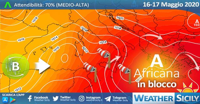 Sicilia: nuova ondata di calore nel weekend con punte di 39 gradi.