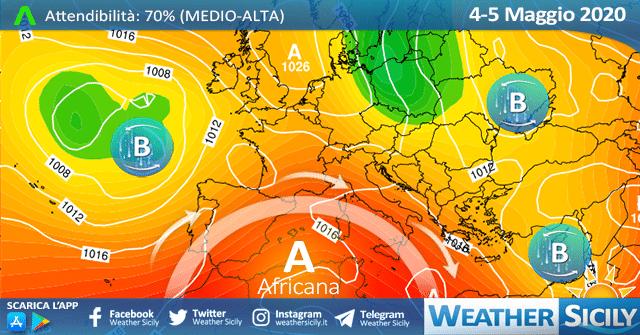 Sicilia: la fase 2 debutta con l'anticiclone africano. Mercoledì il picco del caldo.
