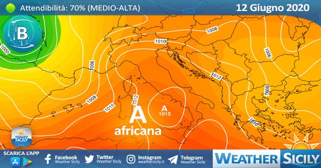 Sicilia: ancora variabilità e locali piogge. Calo termico entro mercoledì.