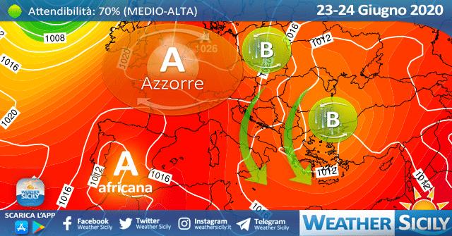 Sicilia, caldo in ritirata nel weekend: rinforzo dei venti e mareggiate in arrivo!
