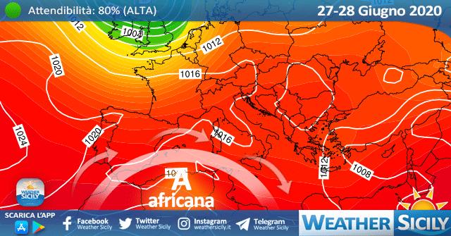 Sicilia: anticiclone africano in rinforzo ad inizio settimana.