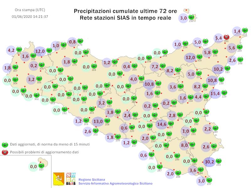 Sicilia: variabilità sparsa. Seguirà breve ondata di caldo.