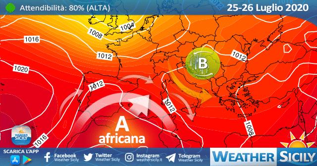 Sicilia: lieve calo termico entro domenica ma l'anticiclone africano non demorde.