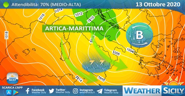 Rovesci e temporali puntano il nord Sicilia.