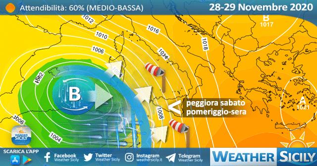 Sicilia, nero weekend: forti venti e fenomeni localmente intensi!