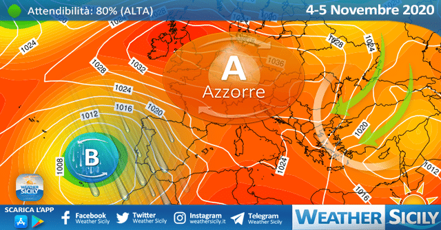 Sicilia, autunno al secco: alta pressione ancora per diversi giorni?