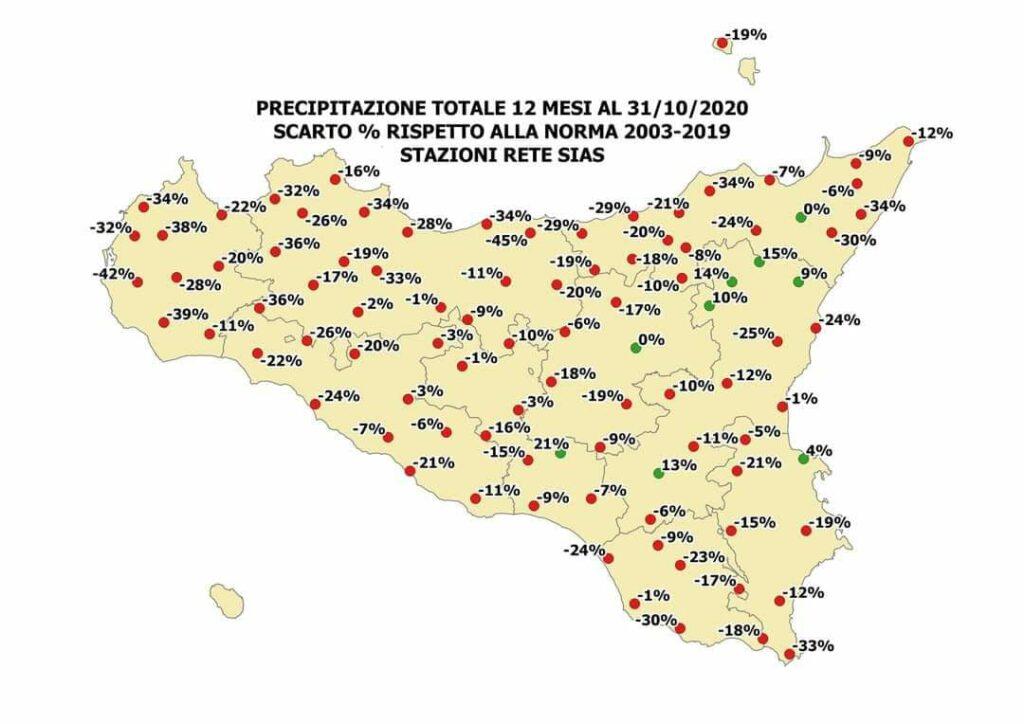 Sicilia, autunno al secco: rischio siccità prolungata!