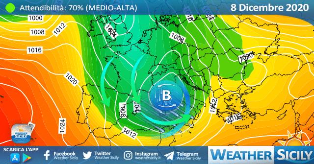 Sicilia, aria polare mercoledì: sensibile calo termico alle porte!