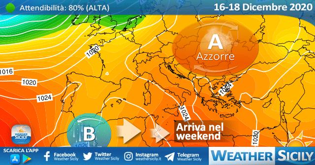 Sicilia: anticiclone fino a venerdì. Peggiora nel weekend.