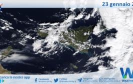 Sicilia: immagine satellitare Nasa di sabato 23 gennaio 2021