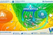 Sicilia, imminente impulso artico: crollo termico nelle prossime ore. Forte Tramontana in arrivo!