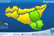 Sicilia: avviso rischio idrogeologico per martedì 26 gennaio 2021