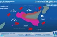 Sicilia, burrasca in arrivo dal pomeriggio: attese raffiche fino a 90 km/h.
