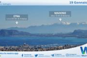 Sicilia: oggi si riesce a vedere l'Etna da Palermo. VIDEO
