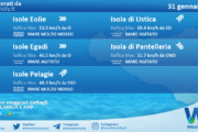Sicilia, isole minori: condizioni meteo-marine previste per domenica 31 gennaio 2021