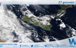 Sicilia: immagine satellitare Nasa di mercoledì 27 gennaio 2021