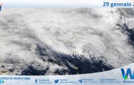 Sicilia: immagine satellitare Nasa di venerdì 29 gennaio 2021
