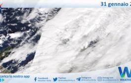 Sicilia: immagine satellitare Nasa di domenica 31 gennaio 2021