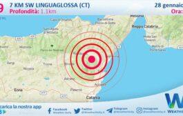 Sicilia: scossa di terremoto magnitudo 2.9 nei pressi di Linguaglossa (CT)