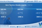 Sicilia: Radiosondaggio Trapani Birgi di mercoledì 27 gennaio 2021 ore 00:00