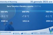 Sicilia: Radiosondaggio Trapani Birgi di domenica 31 gennaio 2021 ore 00:00