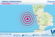 Sicilia: scossa di terremoto magnitudo 2.7 nel Tirreno Meridionale (MARE)