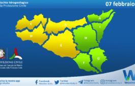 Sicilia: avviso rischio idrogeologico per domenica 07 febbraio 2021