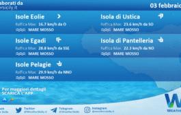 Sicilia, isole minori: condizioni meteo-marine previste per mercoledì 03 febbraio 2021