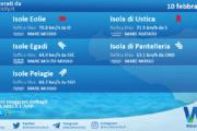 Sicilia, isole minori: condizioni meteo-marine previste per mercoledì 10 febbraio 2021