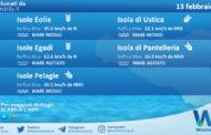 Sicilia, isole minori: condizioni meteo-marine previste per sabato 13 febbraio 2021